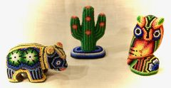 Small Huichol Beaded Figures