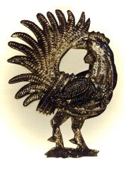 Haitian Steel Drum Art: Rooster