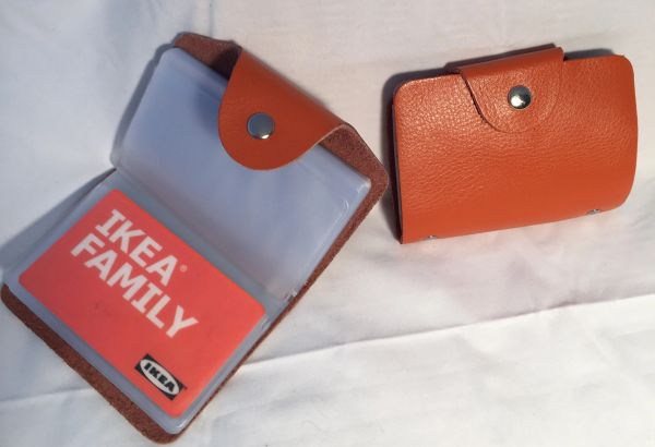 Leather business card credit card holder leather italian imports leather picture or business card holder reheart Gallery