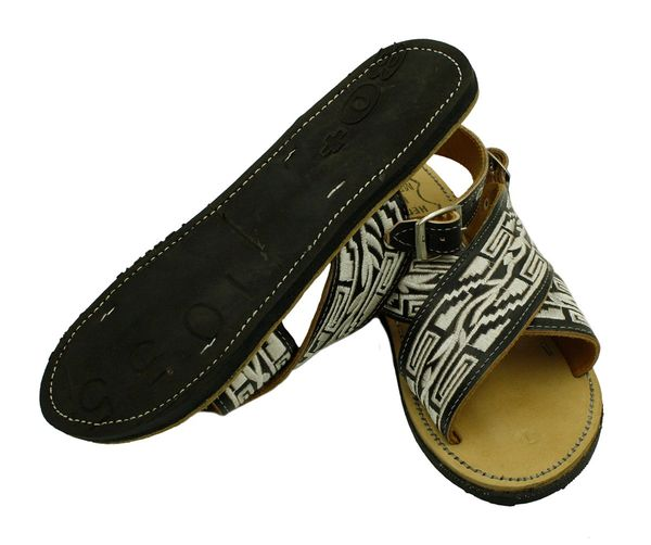 1a9be8045a2d MEN LEATHER MEXICAN two strap PITEADO BORDADO SANDALS HUARACHE