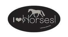 Laptop, Cell Phone & Helmet Sticker: I love Horses - Item # HS 2ILH