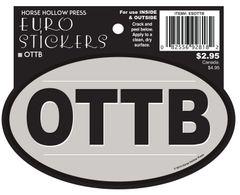 Euro Horse Oval Sticker: OTTB Euro Sticker - Item # ES OTTB
