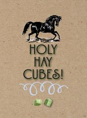 Birthday Card: Holy Hay Cubes! - Item # GC B Cubes
