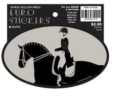 Euro Horse Oval Sticker: Piaffe - Item # ES Piaffe