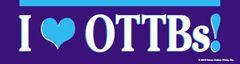 Bumper Sticker: I <heart> OTTBs! - Item # B OTTB