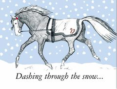 BOXED Christmas Cards: Dashing through the snow. - Item # BX Trotter