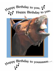 Birthday Card: Happy Birthday to you, Happy Birthday to you! - Item # GC Sing