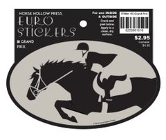 Euro Horse Oval Sticker: Grand Prix Jumper - Item # ES Grand Prix