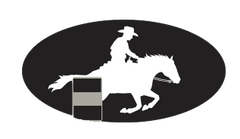 Laptop, Cell Phone & Helmet Sticker: Barrel Racer - Item # HS Barrel