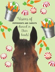 Christmas Card: Visions of Peppermints & Carrots danced in their heads - Item # GC X Sugar