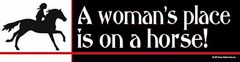 Bumper Sticker: A woman's place is... Item# B Woman