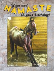 Birthday Card: Yoga and Namaste on your Birthday! - Item# GC B Yoga