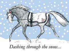 Christmas Card: Dashing through the snow... - Item # GC X Trotter