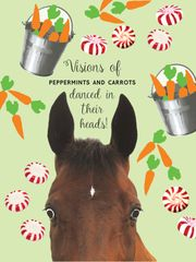 BOXED Christmas Cards: Visions of Peppermints & Carrots danced in their heads - Item # BX Sugar