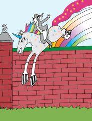 Birthday Card: Rainbow-Colored Unicorn - Item# GC B Unicorn
