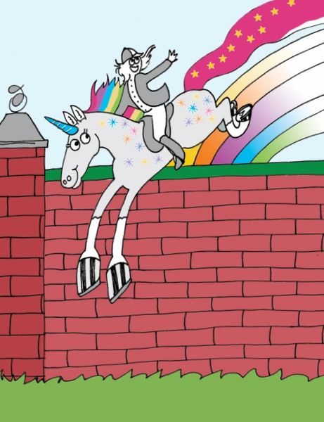 Birthday Card Rainbow Colored Unicorn