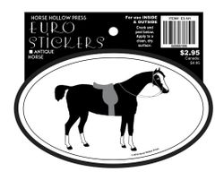 Euro Horse Oval Sticker: Antique Horse - Item # ES AH