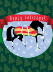 Gift Enclosure Card: Stylized Christmas Horse with Trees - Item # GEC X TS Horse