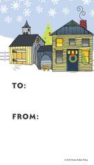Gift Tags in BULK: Christmas House and Barn- Item # GT X House/Barn BULK