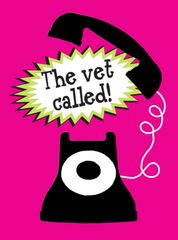 Get Well Card: The Vet Called!- Item# GC GW The Vet