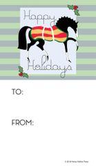 Gift Tags in BULK: Light Green Stylized Horse- Item # GT X Style GLG BULK