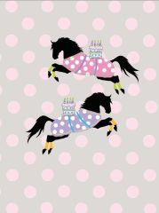 Birthday Card: Polka Dot Horses with Cakes - Item# GC B Dots