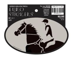 Euro Horse Oval Sticker: 3, 2, 1 - GO! Eventer read to go - Item # ES 3,2,1 GO!