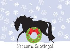 BOXED Christmas Cards: Horse with Heart and Wreath - Item # BX Xmas 23