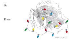 Gift Tag: Horse with Lights - Item # GT HWL