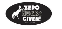 Laptop, Cell Phone & Helmet Sticker: Zero Bucks Given - Item # HS Zero