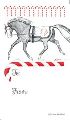 Gift Tag: Trotting Horse with Candy Canes - Item # GT X 36