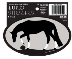 Euro Horse Oval Sticker: Trail Horse Euro Sticker - Item # ES Trail