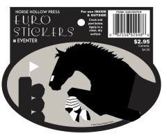 Euro Horse Oval Sticker: Eventer Euro Sticker - Item # ES Eventer