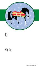 Gift Tags in BULK: Stylized Horse with Snowflakes- Item # GT X TS Horse BULK
