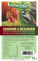 NEW! NaturesPeck® Mealworms & Sunworms *Blend (11 lbs)