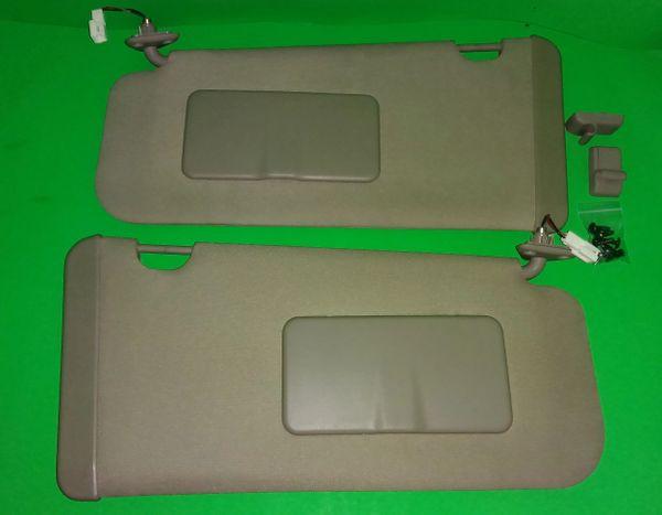 2004-2009 OEM Genuine Nissan Quest Sun Visors Tan 6a27145af85