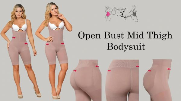 Open Bust Mid-thigh Bodysuit (Full coverage)
