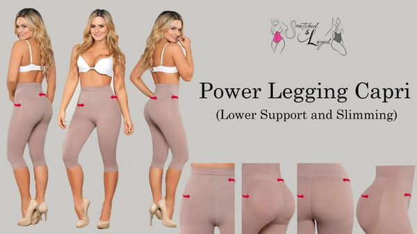 Power Legging Capri (Lower half support for slimming & smoothing)