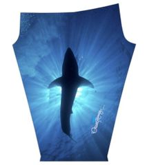 """The Great White Shark Smile"" and Silhouette #OceanRamseys Signature #SaveSharks design Yoga, Swim, Dive, Surf, Run, Hike, Climb, Be fun, be active or lounge with a 4"" waist band for added comfort"