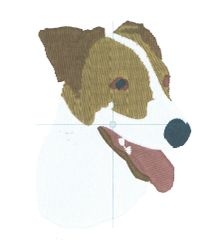 Jack Russell Embroidery Design