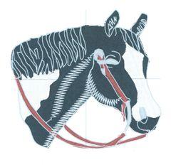 Horse's Head Embroidery Design