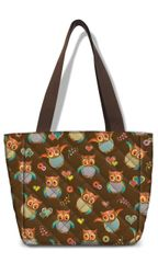 Smarty Pattern Fabric Quilted - Insulated Lunch Tote