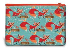 Foxy Canvas Mini Pouch