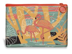 Flamingo Canvas Mini Pouch