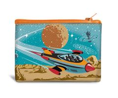 Travel to Mars - Cotton Canvas Coin Bag