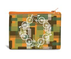 Bike Canvas Coin Bag