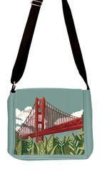 Golden Gate Bridge - Embroidery Messenger Bag