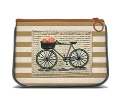 Bike - Canvas Small Zipper Pouch