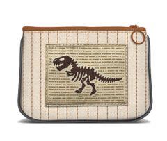Dinosaur - Canvas Small Zipper Pouch