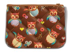 Smarty Pattern Fabric Quilted Mini Pouch